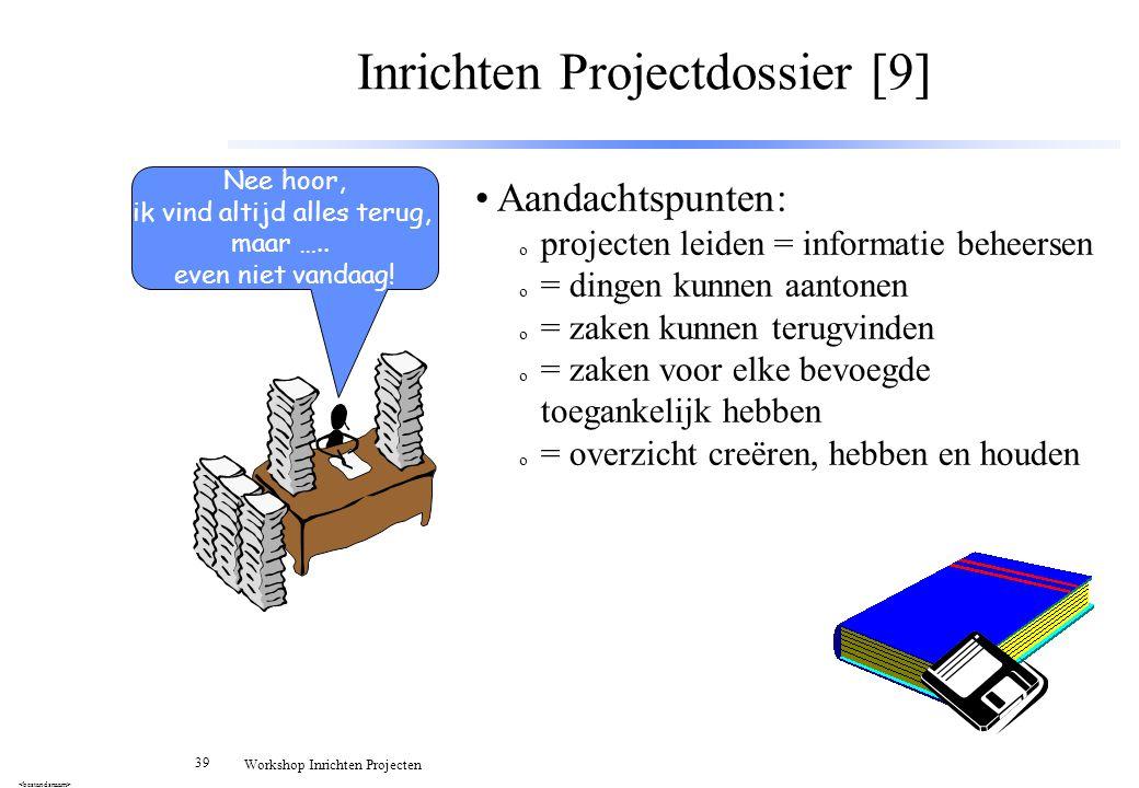 Inrichten Projectdossier [9]